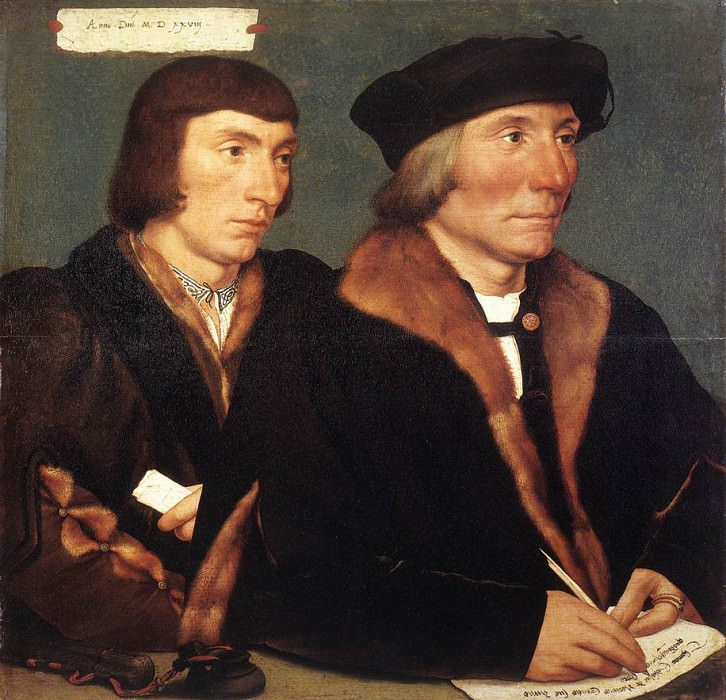 Holbien the Younger Double Portrait of Sir Thomas Godsalve and His Son John. Hans The Younger Holbein