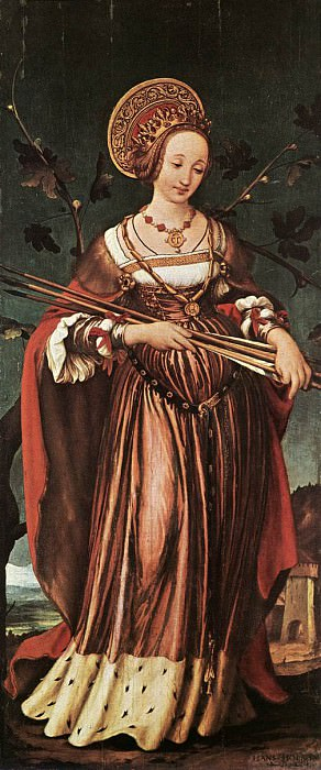 1523 St Ursula. Hans The Younger Holbein