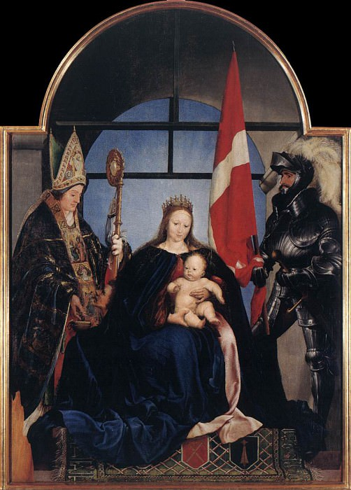Золотурнская Мадонна (англ.) со святыми Мартином Турским (слева) и Урсом Золотурнским. Ганс Младший Гольбейн