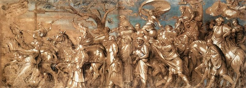 The Triumph of Riches. Hans The Younger Holbein