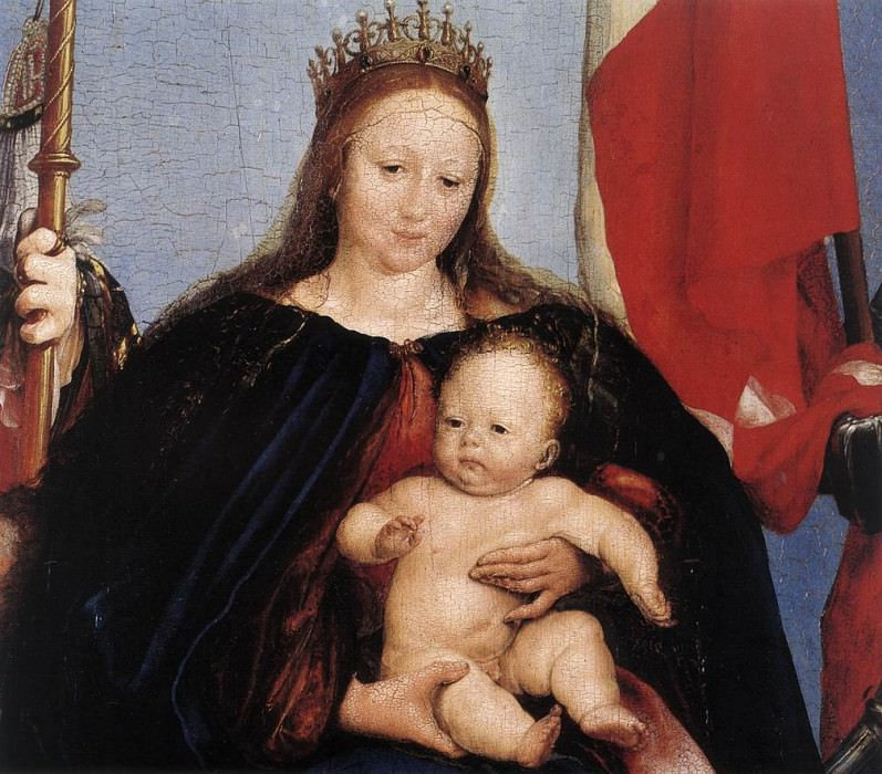 The Solothurn Madonna detail. Hans The Younger Holbein