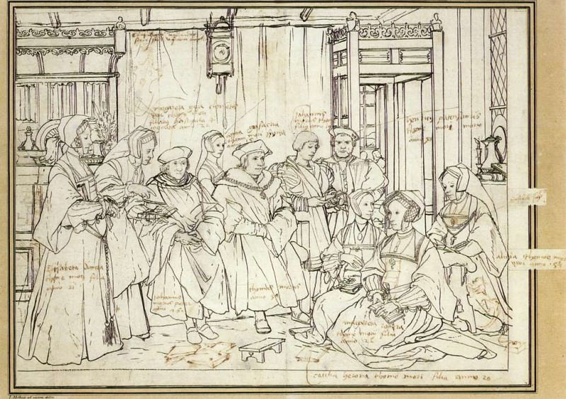 Study for the Family Portrait of Sir Thomas More. Hans The Younger Holbein