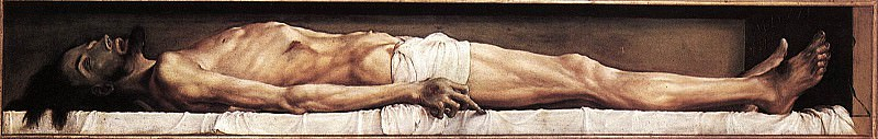 The Body of the Dead Christ in the Tomb. Hans The Younger Holbein