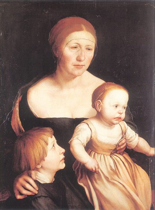 Семья художника, 1528. Ганс Младший Гольбейн