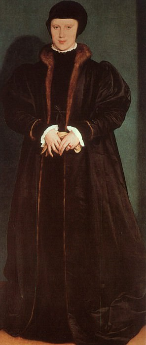 Holbein Christina of Denmark- Duchess of Milan, 1538, Nation. Hans The Younger Holbein