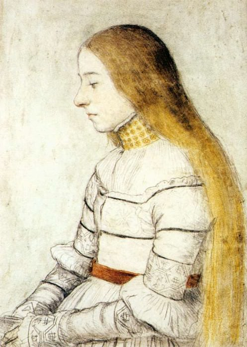 Portrait of Anna Meyer. Hans The Younger Holbein