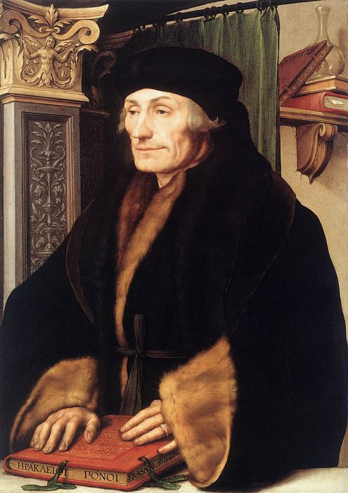 Portrait of Erasmus of Rotterdam. Hans The Younger Holbein