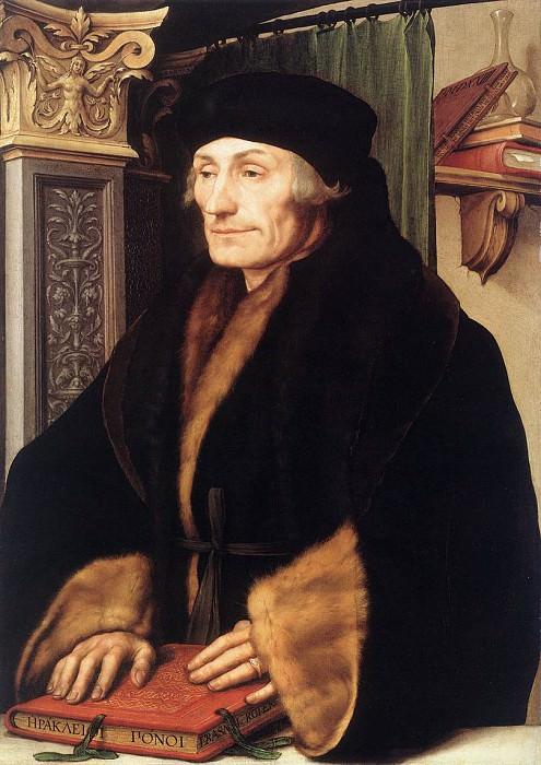 Портрет Эразма Роттердамского. Ганс Младший Гольбейн
