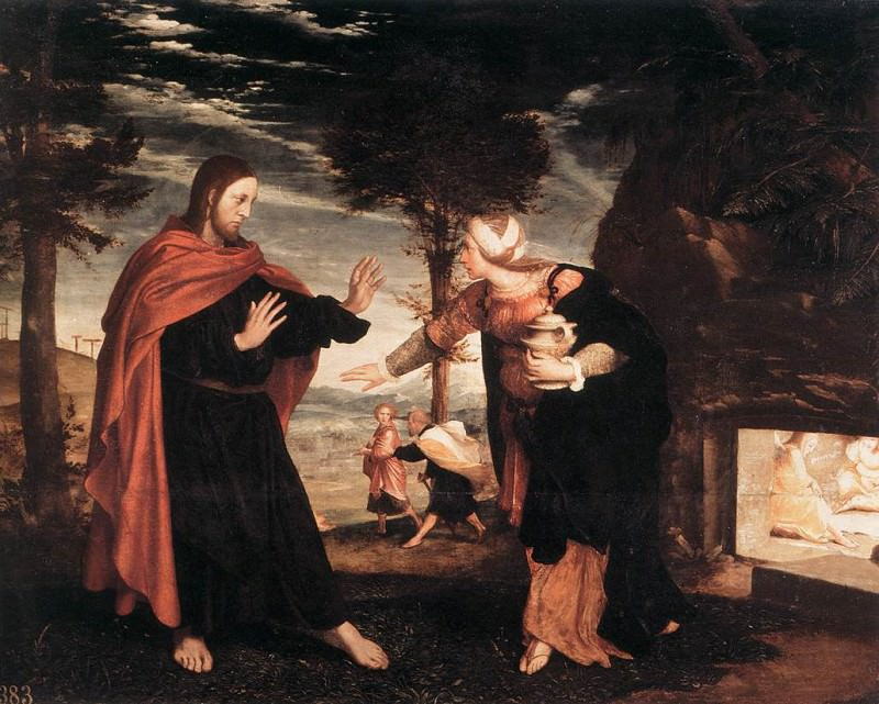 1524 Noli me Tangere. Hans The Younger Holbein