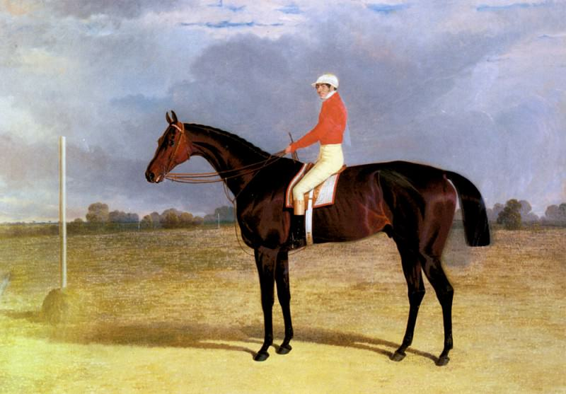 A Dark Bay Racehorse With Patrick Connolly Up. John Frederick Herring