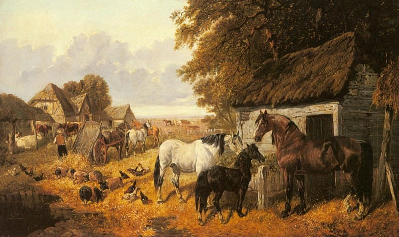 Bringing In The Hay. John Frederick Herring