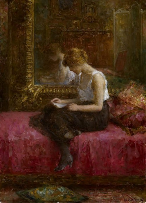 Literary Pursuits of a Young Lady. Alexei Alexeivich Harlamoff