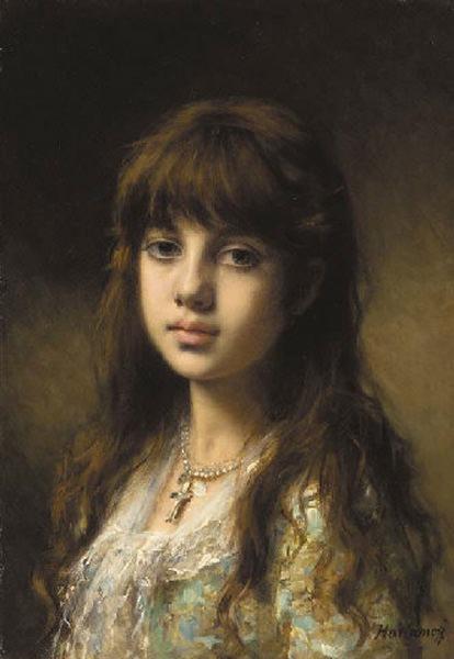 Little Girl. Alexei Alexeivich Harlamoff