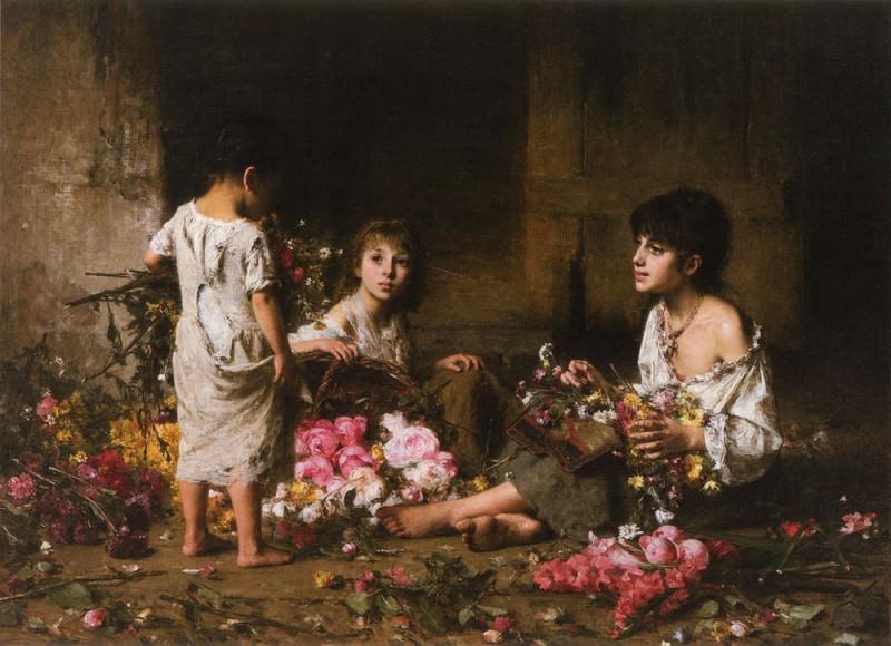 The Flower Girls. Alexei Alexeivich Harlamoff