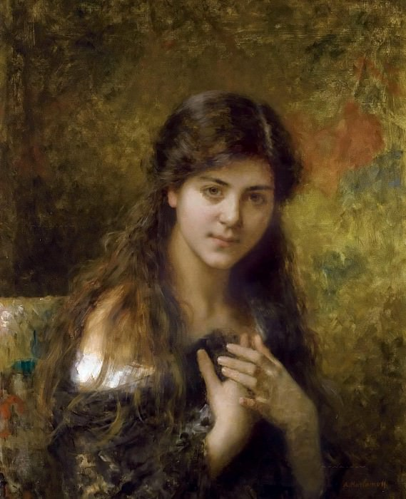 The dark haired beauty. Alexei Alexeivich Harlamoff