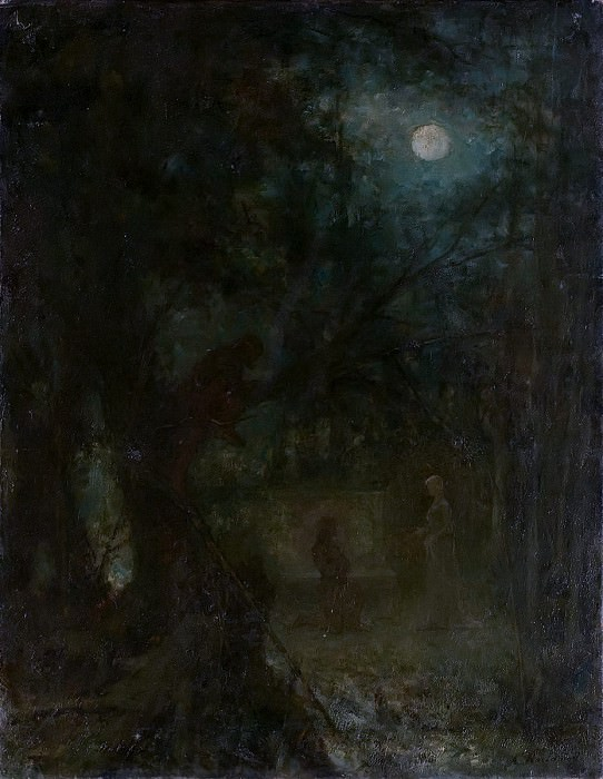 Park in Moonlight. Alexei Alexeivich Harlamoff