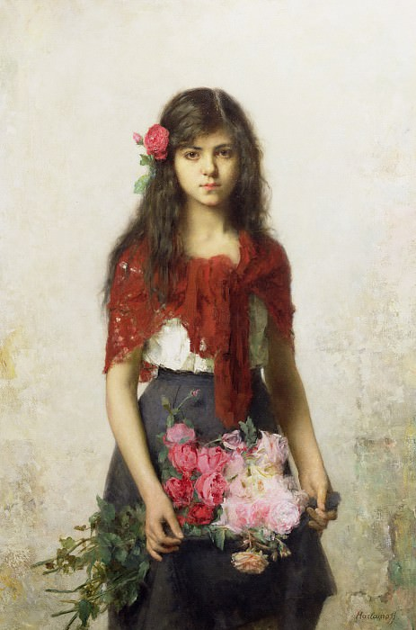 The Flower Seller. Alexei Alexeivich Harlamoff