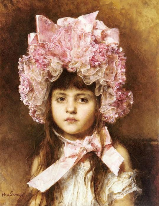 The Pink Bonnet. Alexei Alexeivich Harlamoff
