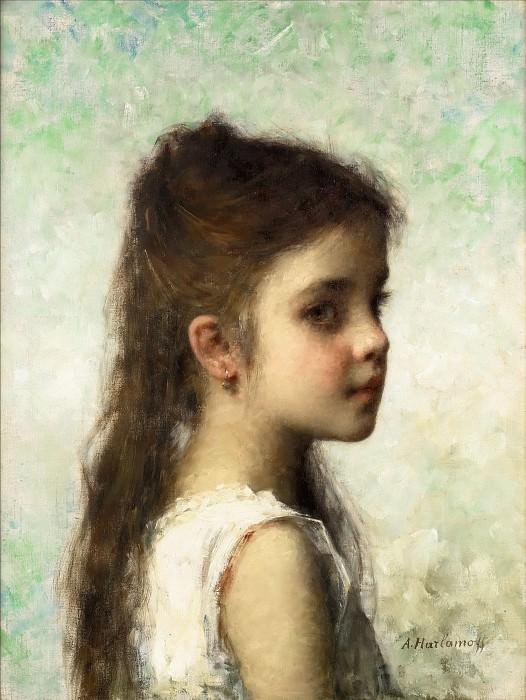 Девочка на голубом фоне. Алексей Алексеевич Харламов