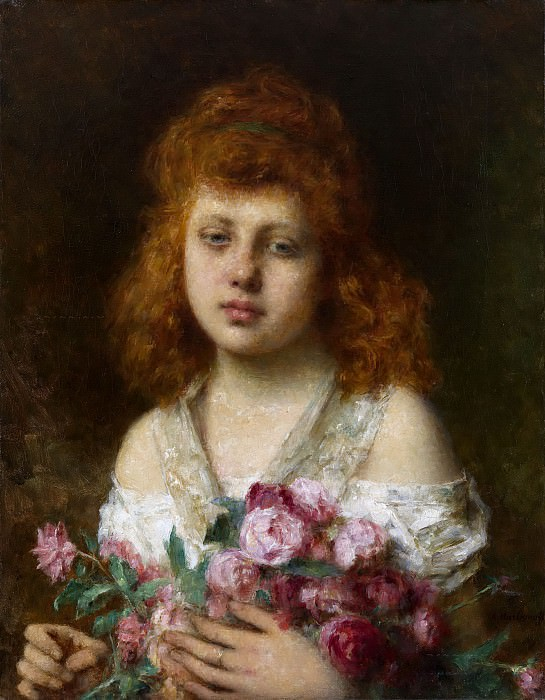 Portrait of a Red-Haired Girl. Alexei Alexeivich Harlamoff