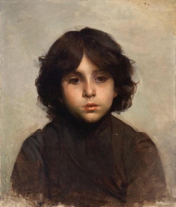 Portrait of a Young Boy. Alexei Alexeivich Harlamoff
