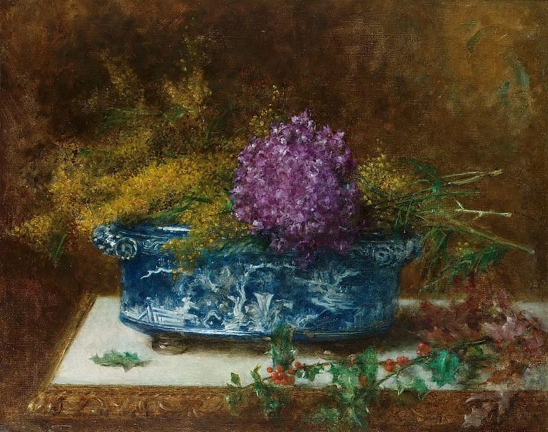 Натюрморт с сиренью и падубом. Алексей Алексеевич Харламов