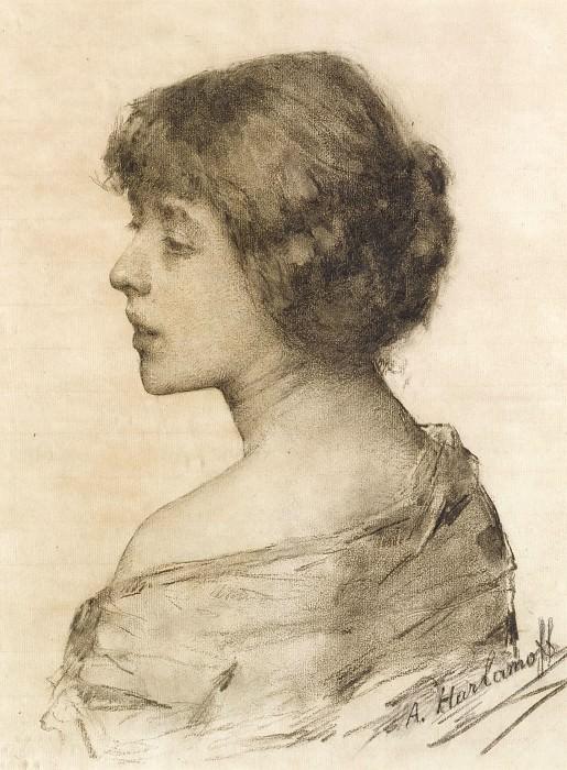 Портрет дамы. Алексей Алексеевич Харламов
