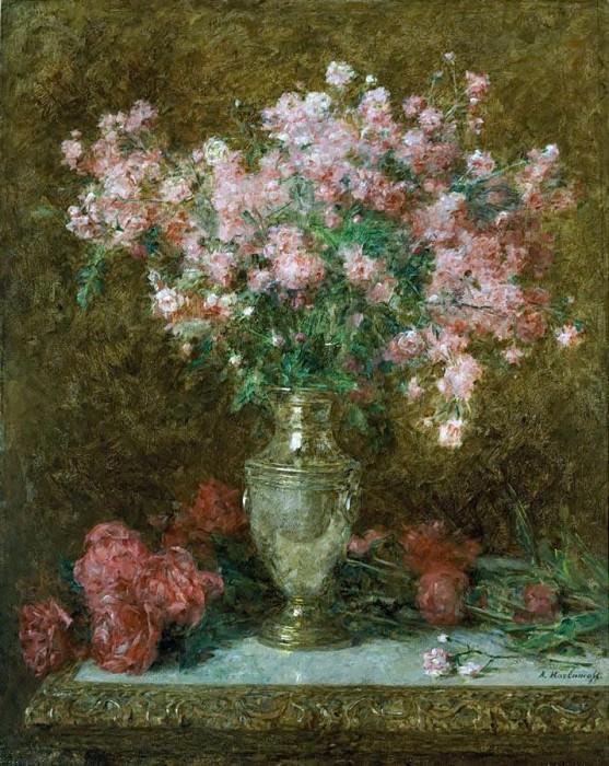 Vase of roses. Alexei Alexeivich Harlamoff