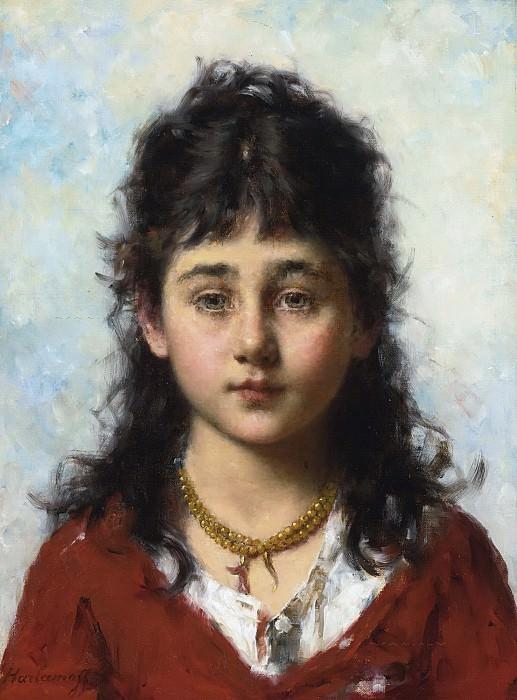 Портрет девочки в ожерелье. Алексей Алексеевич Харламов
