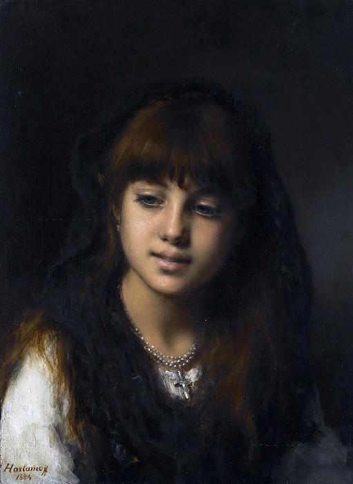 Портрет девушки. Алексей Алексеевич Харламов