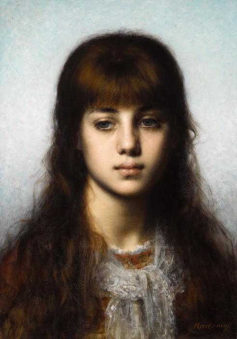 Portrait of a Girl. Alexei Alexeivich Harlamoff