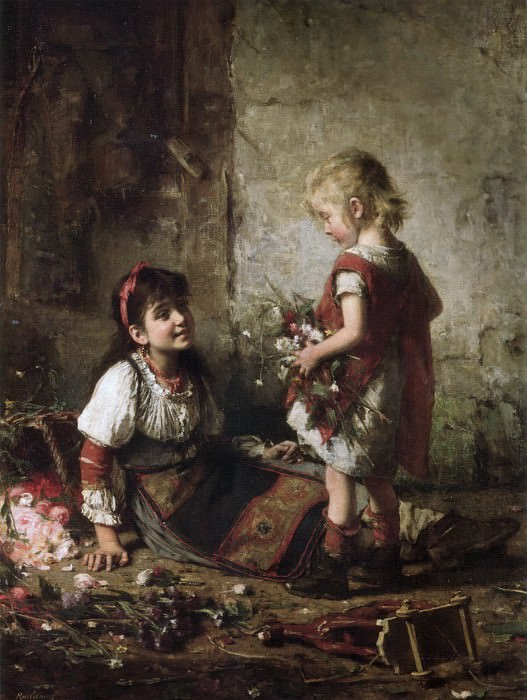 Маленькие цветочницы. Алексей Алексеевич Харламов