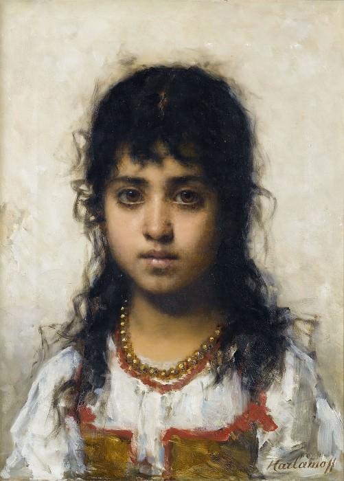 Study of a Girl. Alexei Alexeivich Harlamoff