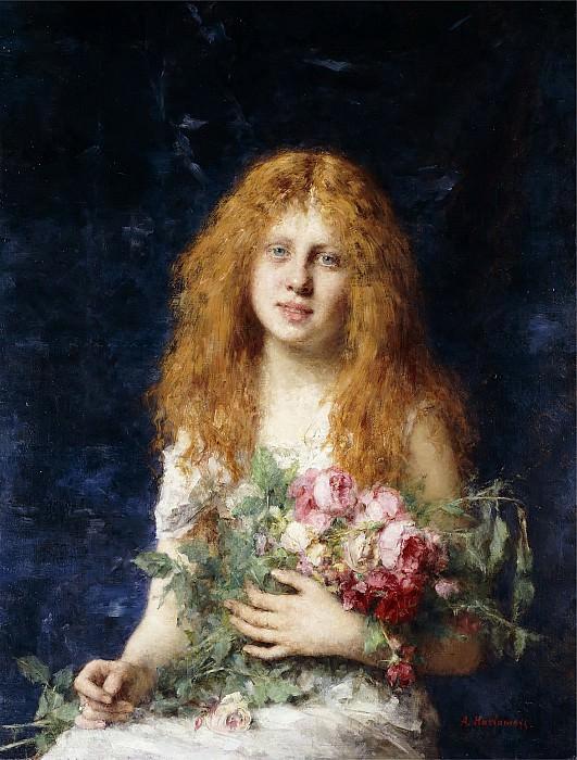 A fair rose. Alexei Alexeivich Harlamoff