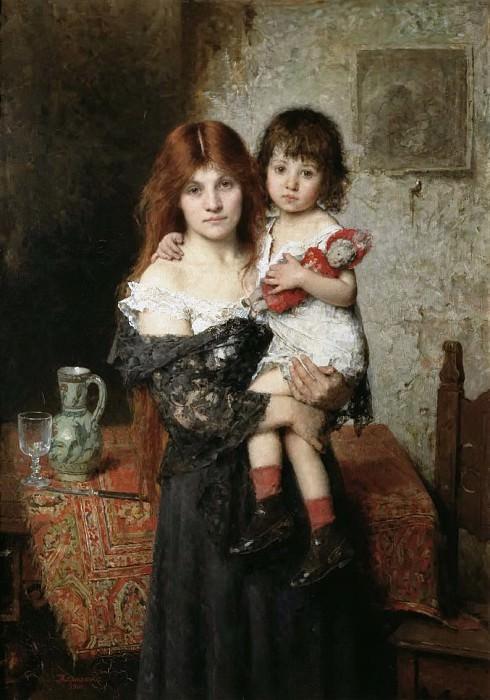Мать и дочь. Алексей Алексеевич Харламов