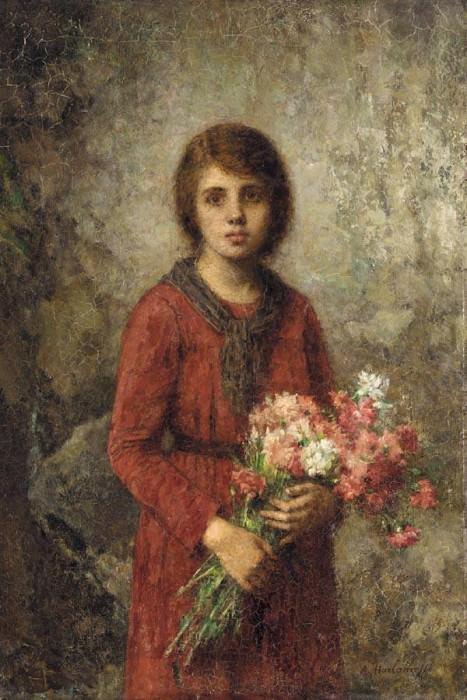 Artist-s daughter. Alexei Alexeivich Harlamoff