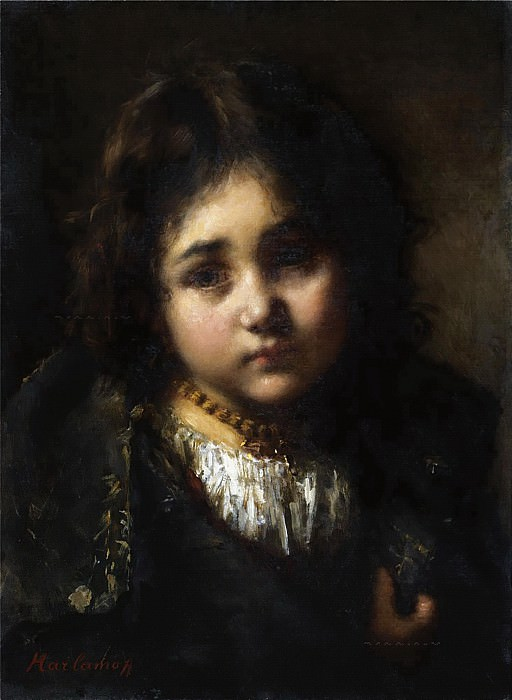 Portrait of a Young Girl. Alexei Alexeivich Harlamoff