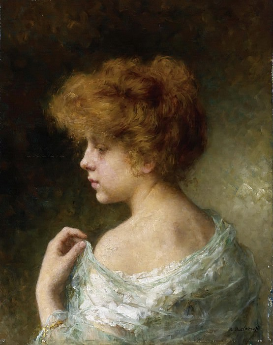 Young Girl with Red Hair. Alexei Alexeivich Harlamoff