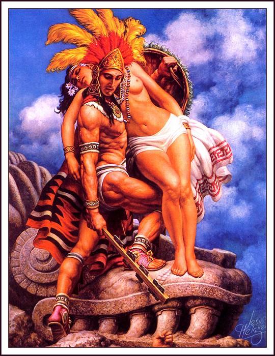 Aztec Gesture. Jesus Helguera