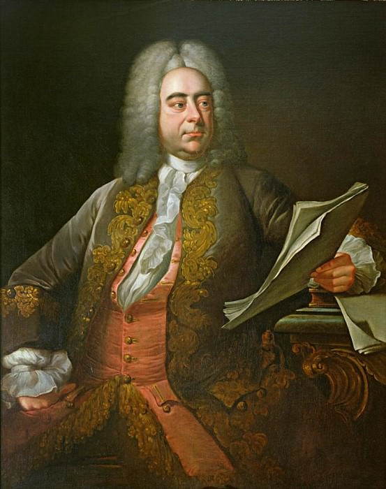 Portrait of George Frederick Handel. Thomas Hudson