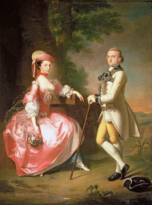 Sir John Pole, 5th Baronet, and his Wife Elizabeth. Thomas Hudson