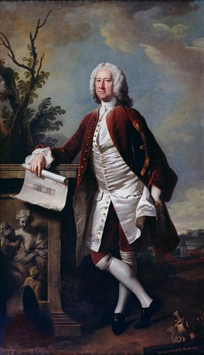 Portrait of Theodore Jacobsen, architect of the Foundling Hospital. Thomas Hudson