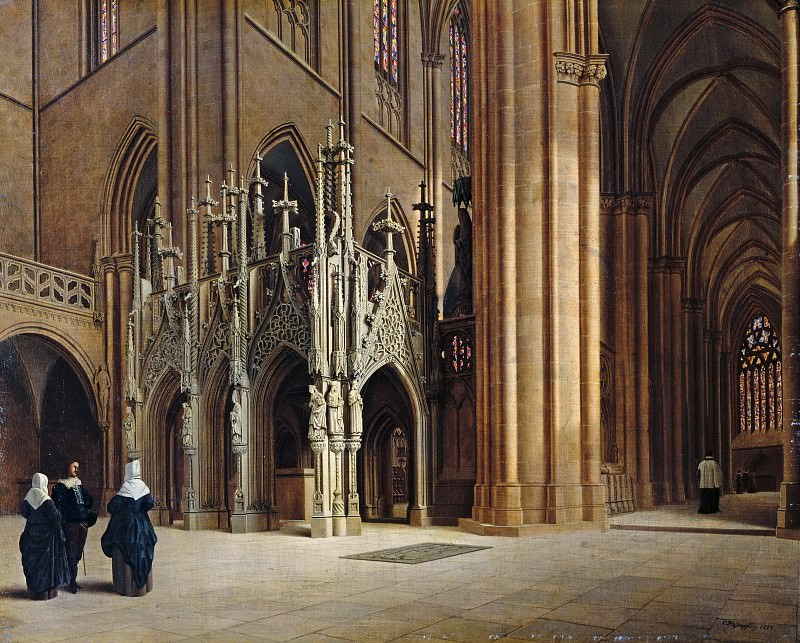 The Rood Screen in the Halberstadt Cathedral. Carl Hasenpflug