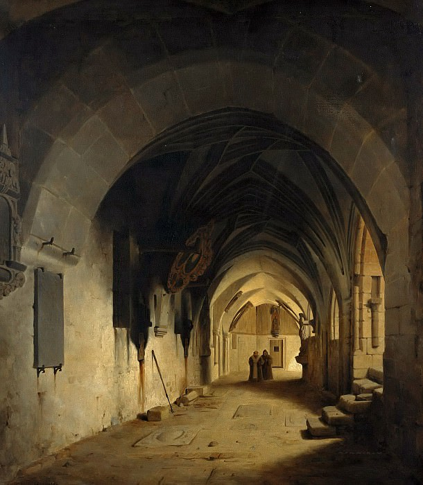 Cloister of the Cathedral of Halberstadt. Carl Hasenpflug