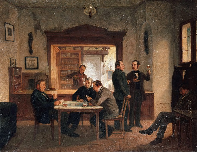 Wine bar Lutter and Wegner. Theodor Hosemann