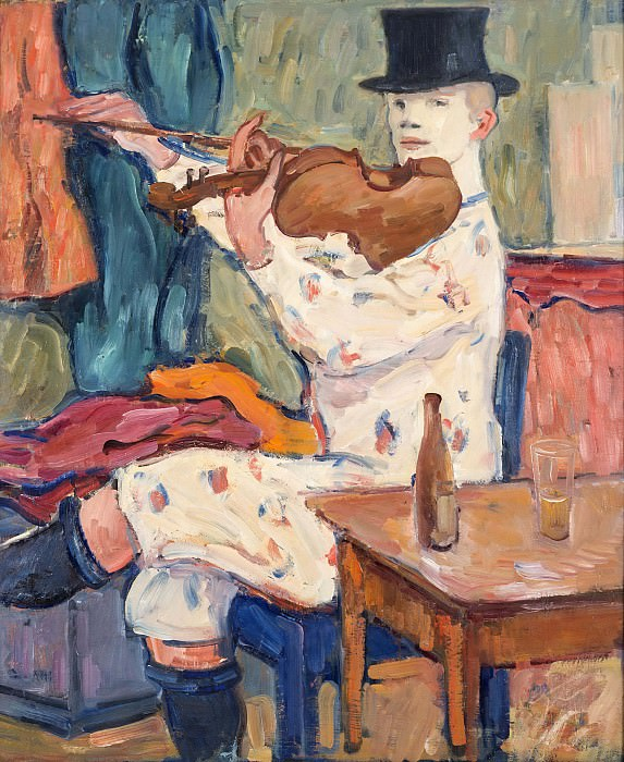 A Clown Playing the Violin. Gosta von Hennigs