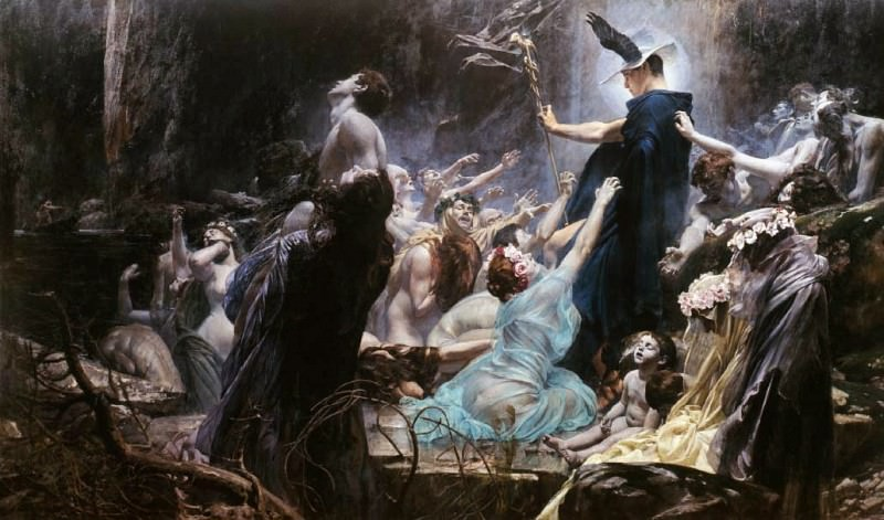Souls on the Banks of the Acheron. Adolph Hiremy-Hirschl