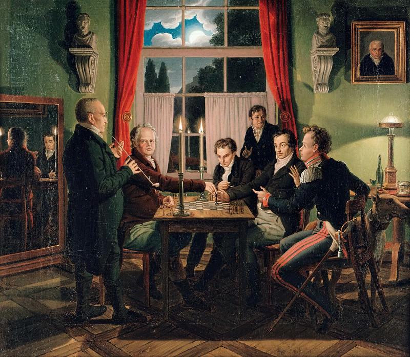 Игра в шахматы. Иоганн Эрдман Хуммель