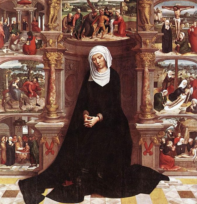 ISENBRANT Adriaen Our Lady of the Seven Sorrows. Adriaen Ysenbrandt Isenbrandt