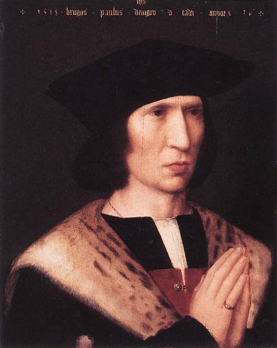 ISENBRANT Adriaen Portrait of Paulus de Nigro. Adriaen Ysenbrandt Isenbrandt
